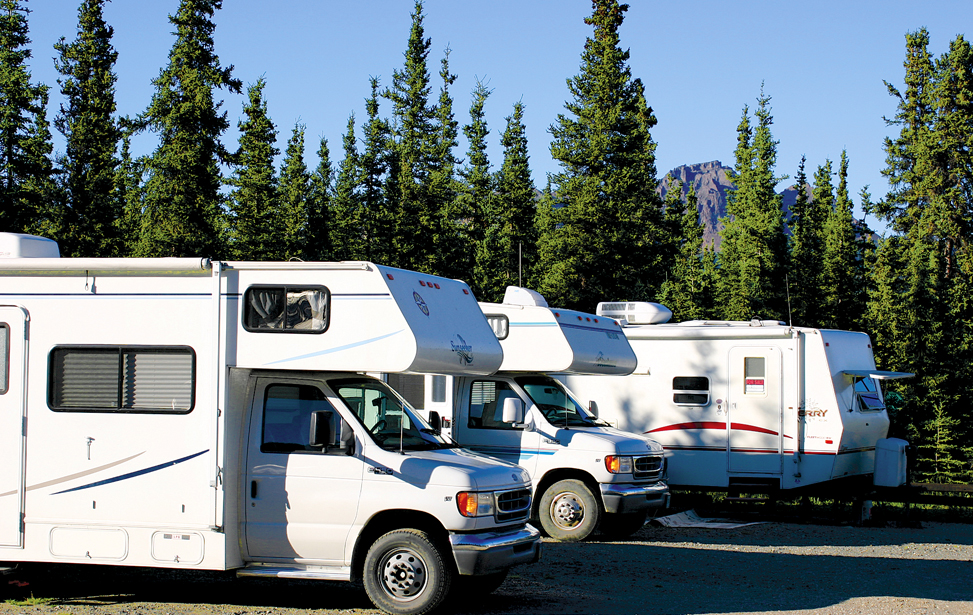 Campsites at Denali Grizzly Bear Resort